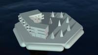 未来海上城市,采用六边形设计,可容纳1万名居民