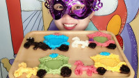 """妹子吃""""马车巧克力"""",五颜六色的创意甜点,香甜味美超好吃"""