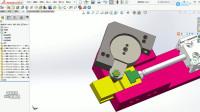 推杆型90度旋转机构 非标设计solidworks画图
