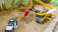 工程车帮助小卡车玩具