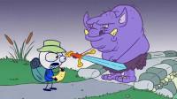 搞笑鉛筆動畫:小笨蛋為了吃到冰激凌,勇闖難關,結果冰激凌賣完了