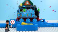 定格动画-乐高城市故事之正确组装托马斯小火车玩具车游戏