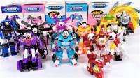 拆箱展示10辆韩国变形金刚Tobot托宝兄弟机器人变形玩具车