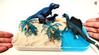 恐龙食肉龙,沙盘动感沙水晶泥花树,组装恐龙园,儿童玩具亲子互动,小臭臭亲子游戏