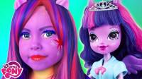 当妈妈将女儿美妆打扮成紫悦公主,你觉得她可爱吗?