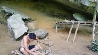 水稻哥 原始技能 第十八集 原始技术原始木炉子制作