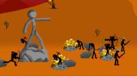 火柴人战争:满满的金币好爽游戏