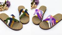 妈妈爱手工鞋-五彩缤纷拖鞋,夏季手工凉拖鞋DIY, 材料包手工编织视频