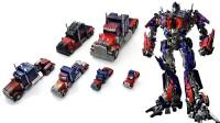 6个变形金刚电影版的汽车人领袖擎天柱机器人玩具变形过程展示