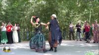 紫竹院广场舞,73岁的舞蹈爱好者邀请杜老师共舞