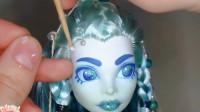 为怪高娃娃重铸容颜粘美发,化妆打扮后一个美人胚子成型了!