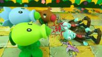 """植物大战僵尸玩具:探路僵尸碰上新补充兵员的植物,大叫""""饶命"""""""