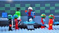 定格动画-乐高城市故事之超级英雄蜘蛛侠当了忍者神龟的师傅