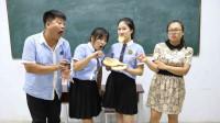 学生上课偷吃烧饼,老师抓到后罚她干吃3个大烧饼,真是太逗了