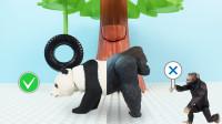 定格动画-乐高城市故事之学习正确的认识动物大熊猫