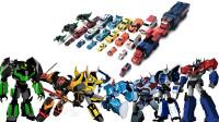 24辆变形金刚G1赛博志动漫版擎天柱大黄蜂横炮铁腕机器人变形玩具