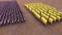 史诗战争模拟器:10000个美女vs100个海绵宝宝,谁更厉害?