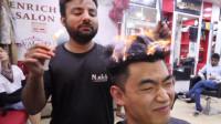 中国小伙体验印度蜡烛理发,理发过程大揭秘,看完你敢尝试吗?