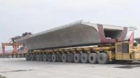 800吨级的高铁箱梁是如何放到运梁车上的?这个视频给你答案
