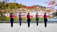 阳光美梅原创广场舞《红尘有缘》形体舞-背面演示-编舞:美梅(6)
