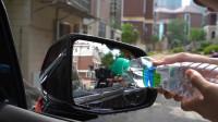 拆箱测评汽车后视镜防雨膜,怎么和贴手机膜一样,会比防雨喷剂好使?