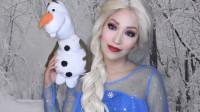 小姐姐美妆打扮成冰雪奇缘中的艾莎公主,你觉得她美吗?
