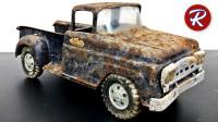 锈迹斑斑的玩具皮卡车,经过修复后焕然一新,一起来见识下!