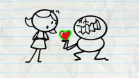 搞笑铅笔动画:小笨蛋被迫接受原谅帽,让你从头绿到脚,全身绿油油!