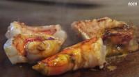 日本街头美食 铁板烧神户牛肉