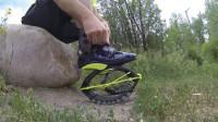 """新科技""""弹跳跑鞋""""速度惊人,不耗油电,未来有望代替自行车?"""