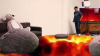 老外挑战真人版熔岩之路游戏,通过可获得10000美金,网友:我也想玩!