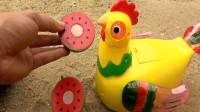 复仇者联盟和母鸡玩具试玩,组装挖掘机和货车,婴幼儿宝宝玩具过家家游戏视频I386
