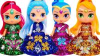 芭比娃娃装扮秀:为4个迪士尼公主打造炫彩闪亮裙!