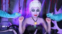 仿妆迪士尼童话美人鱼角色:女子将自己化妆打扮成了乌苏拉!