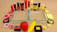 用香蕉和草莓做无硼砂泥,加入红色和黄色彩妆,最后能成功吗