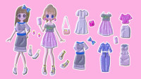 可爱小女孩要出去逛街,好多衣服要怎么搭配呢?