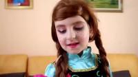 国外时尚美妆:用彩色颜料给女儿化妆,真是太漂亮了