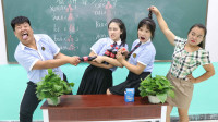 老师让学生看拼音写汉字,没想学渣一口气全部答对,赢得全部奖励