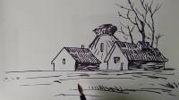 房子速写窦老师教画画