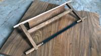 国外木工尝试制作一把中式锯子,造型像了,似乎精髓还没领会到