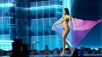 2019泰国环球小姐选美大赛 泳装环节 纱巾飘逸