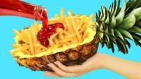 有趣的互整:创意DIY滑稽的食物恶作剧,菠萝玩出什么新花样?