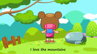 熊孩子英文儿歌:I love the mountains