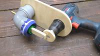 老外用PVC管还有角磨机自制小型吸尘器,网友:简直难以置信!