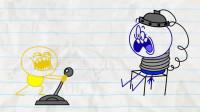 搞笑铅笔动画: 人性的考验!小笨蛋被处以极刑,为啥受伤得总是我!