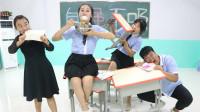 老师让学生形容自己多能吃,学生的回答一个比一个逗,太有趣了