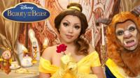 美女与野兽仿妆:女子将自己化妆打扮成了贝儿公主!