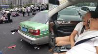 突发!江苏常州车祸肇事者被控制 肇事车女乘客大哭:我们撞了好多人