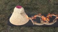 老外将30000根火柴堆成火山,点燃后一发不可收拾,实在太失控了!