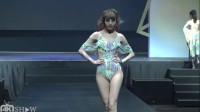 2019WET新品泳装秀,模特身材高挑丰润,靓丽动人
